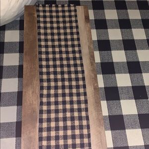 Other - Black and Tan plaid table runner